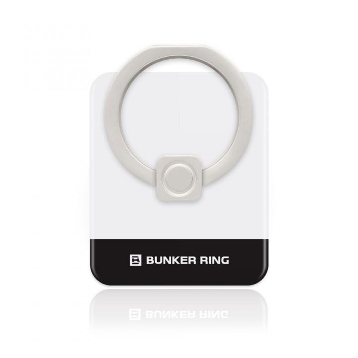 BUNKER RING Edge スマホリング 落下防止 White/Black_0