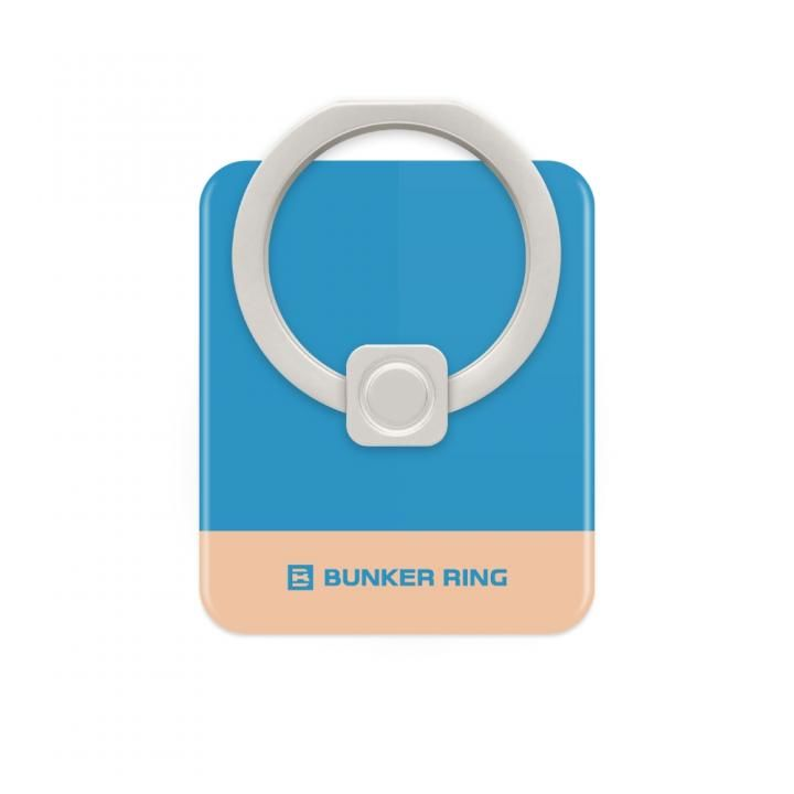 BUNKER RING Edge スマホリング 落下防止 Blue/CoralPink_0