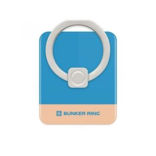 BUNKER RING Edge スマホリング 落下防止 Blue/CoralPink