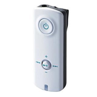 イヤホンがワイヤレスに! AAC対応 Bluetooth(R) オーディオ レシーバー ホワイト