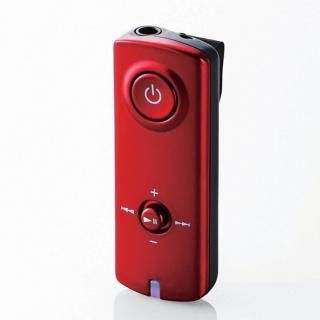 イヤホンがワイヤレスに! AAC対応 Bluetooth(R) オーディオ レシーバー レッド