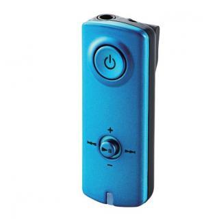 【9月上旬】イヤホンがワイヤレスに! AAC対応 Bluetooth(R) オーディオ レシーバー ブルー 送料無料
