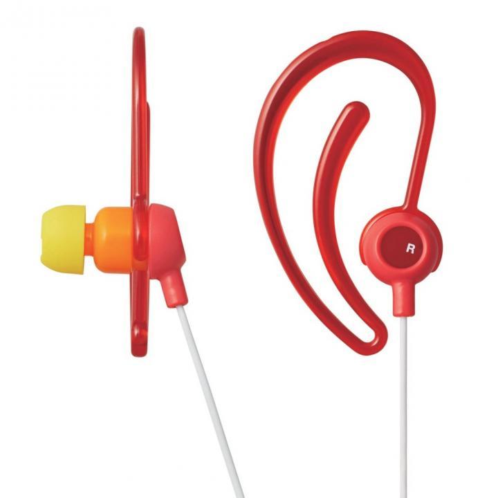 スポーツ向け耳栓タイプステレオイヤホン レッド_0