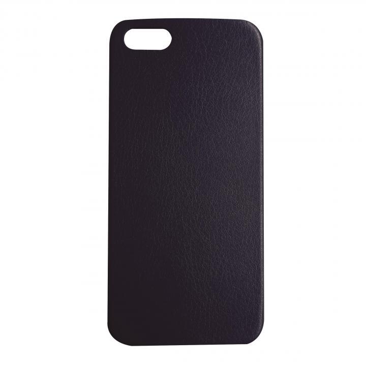 極薄1.3mmPUレザーケース Zula ネイビー iPhone SE/5s/5ケース