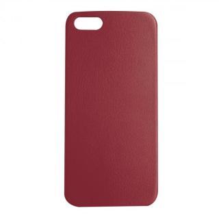 極薄1.3mmPUレザーケース Zula ワインレッド iPhone SE/5s/5ケース