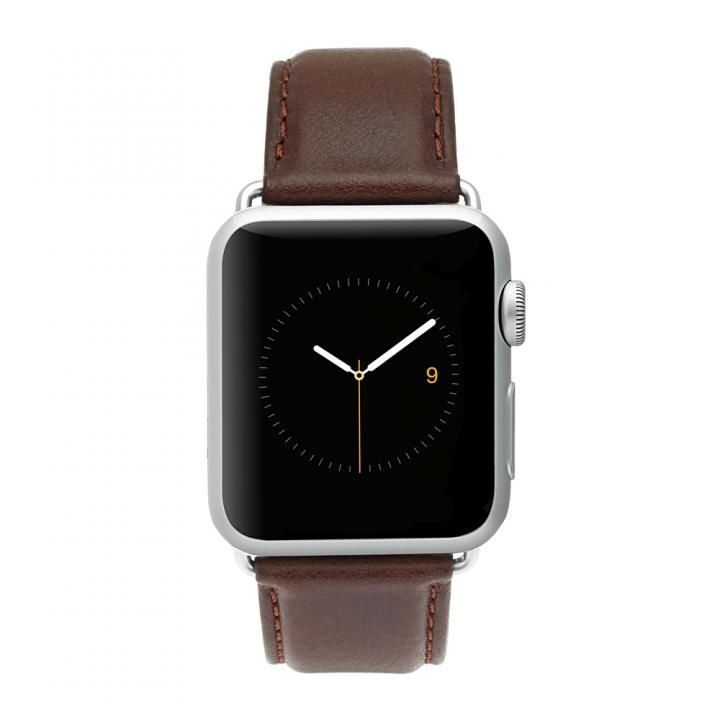 Case-Mate 42mm Apple Watch band Signature Leather ブラウン_0