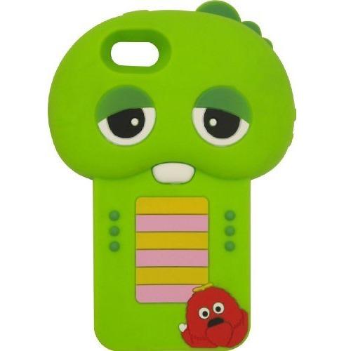 iPhone SE/5s/5 ケース ガチャピン×ムック iPhone5専用 ダイカットジャケット_0