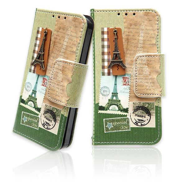 【iPhone SE/5s/5ケース】iPhone5 パリの風景 シリーズ (手帳型ケース) effel_0