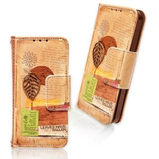 iPhone5 パリの風景 シリーズ (手帳型ケース) leaves