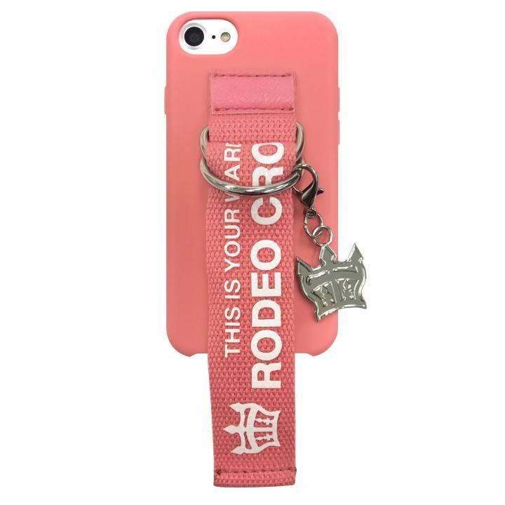 iPhone8/7/6s/6 ケース RODEO CROWNS ベルト付きシリコンケース ピンク iPhone 8/7/6s/6【11月下旬】_0