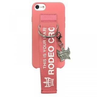 iPhone SE 第2世代 ケース RODEO CROWNS ベルト付きシリコンケース ピンク iPhone SE 第2世代/8/7/6s/6