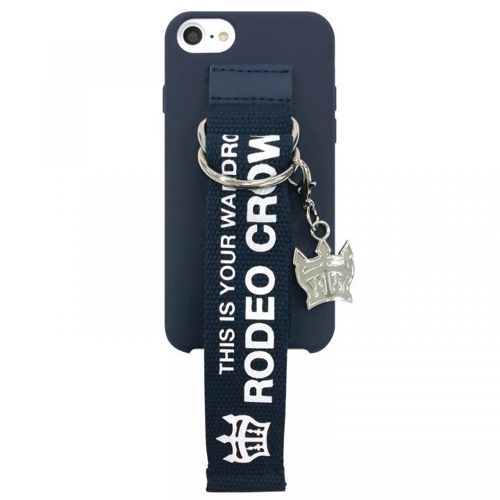 【iPhone8/7/6s/6ケース】RODEO CROWNS ベルト付きシリコンケース ネイビー iPhone 8/7/6s/6_0