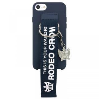 【iPhone8/7/6s/6ケース】RODEO CROWNS ベルト付きシリコンケース ネイビー iPhone 8/7/6s/6