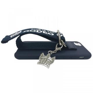 【iPhone8/7/6s/6ケース】RODEO CROWNS ベルト付きシリコンケース ネイビー iPhone 8/7/6s/6_6