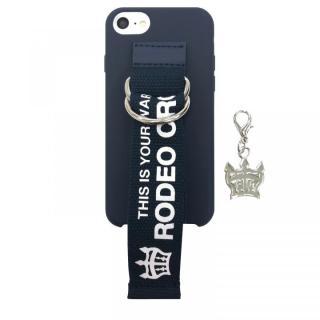 【iPhone8/7/6s/6ケース】RODEO CROWNS ベルト付きシリコンケース ネイビー iPhone 8/7/6s/6_8