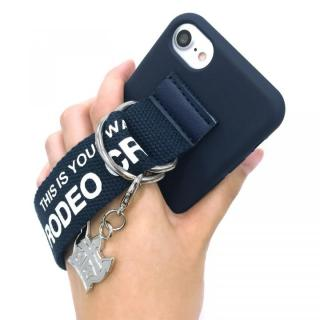 【iPhone8/7/6s/6ケース】RODEO CROWNS ベルト付きシリコンケース ネイビー iPhone 8/7/6s/6_10