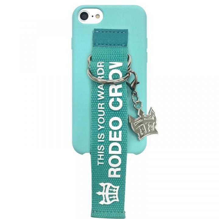 iPhone8/7/6s/6 ケース RODEO CROWNS ベルト付きシリコンケース エメラルド iPhone SE 第2世代/8/7/6s/6_0