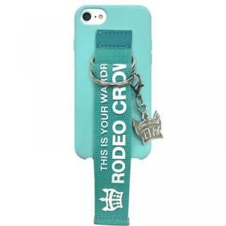 iPhone SE 第2世代 ケース RODEO CROWNS ベルト付きシリコンケース エメラルド iPhone SE 第2世代/8/7/6s/6
