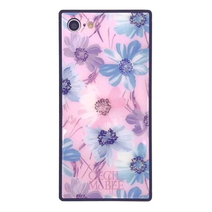 iPhone8/7 ケース CECIL McBEE 背面強化ガラスケース スイートピー/ピンク iPhone SE 第2世代/8/7_0