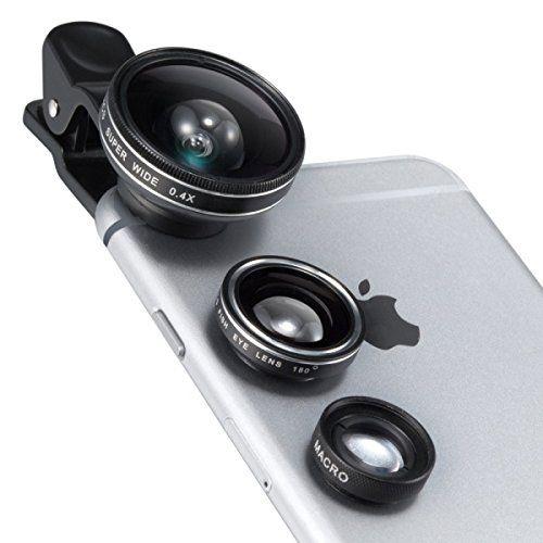 TaoTronics TT-SH014 カメラレンズキット クリップ式 3点セット(魚眼/マクロ/広角レンズ)_0
