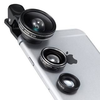 TaoTronics TT-SH014 カメラレンズキット クリップ式 3点セット(魚眼/マクロ/広角レンズ)【9月上旬】