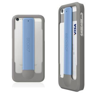 iPhone SE/5s/5 ケース RollingCase  iPhone5(グレー/スカイブルー)