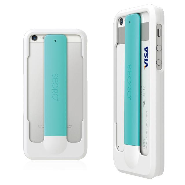 【iPhone SE/5s/5ケース】RollingCase  iPhone5(ホワイト/ミント)_0