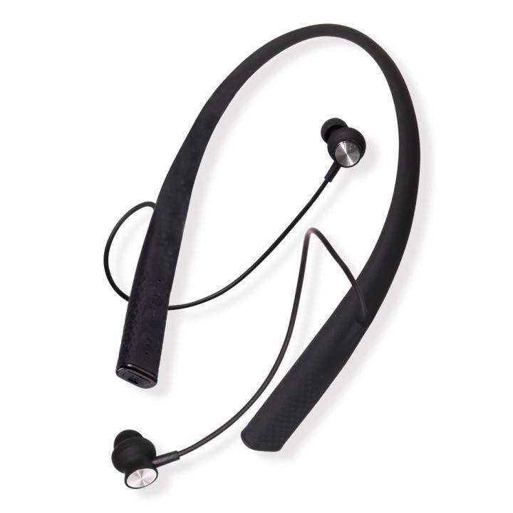 Bluetooth4.1 ネックバンド式 ワイヤレスイヤホン マイク内蔵 OWL-BTEP05-BK ブラック【6月上旬】_0