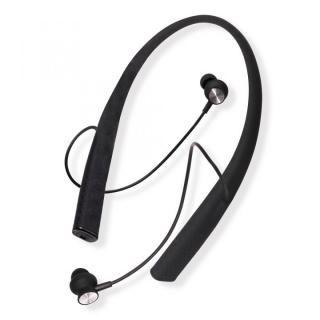 Bluetooth4.1 ネックバンド式 ワイヤレスイヤホン マイク内蔵 ブラック【9月上旬】
