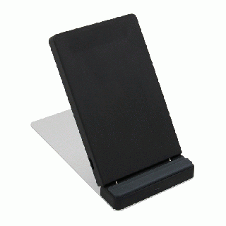iPhoneの7.5W急速充電に対応 卓上スタンド型 Qi ワイヤレス充電器 OWL-QI10W03