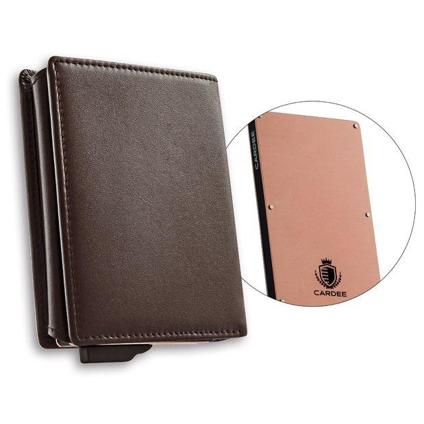 CARDEE Wallet ブラウン・ローズゴールド_0