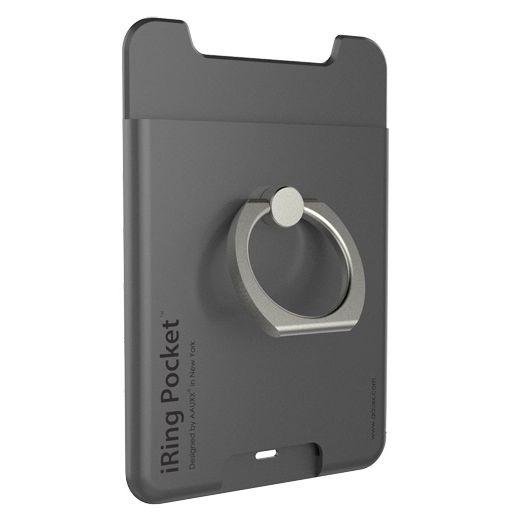 iRing Pocket スマホリング 落下防止 グレイ_0
