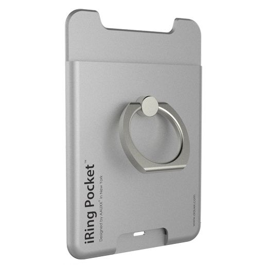 iRing Pocket スマホリング 落下防止 シルバー_0