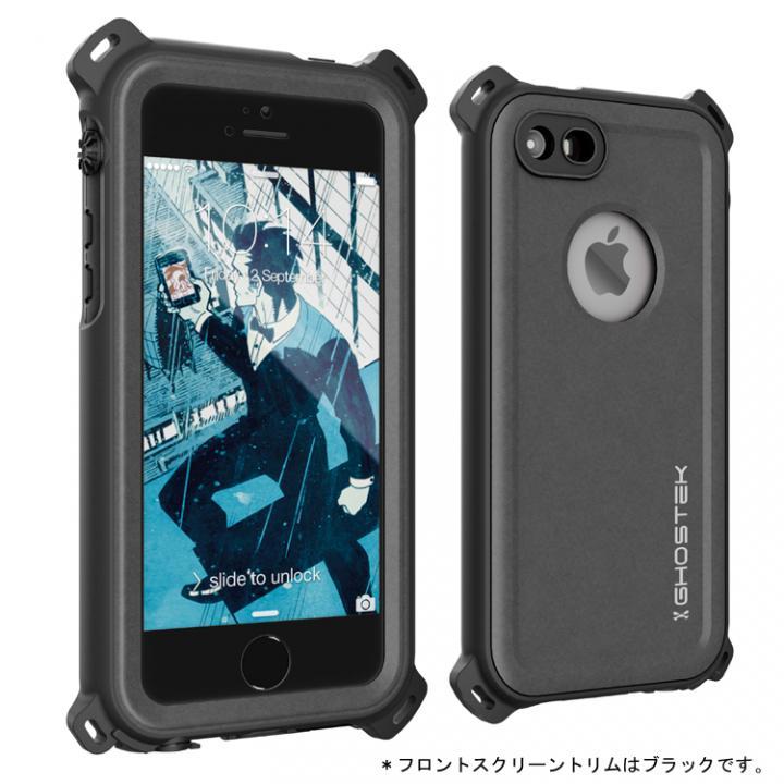 iPhone SE/5s/5 ケース 防水/防雪/防塵/耐衝撃ケース IP68準拠 Ghostek Nautical ブラック iPhone SE/5s/5_0