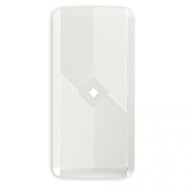 HACRAY 4in1マルチ充電ケーブル内蔵型 ワイヤレスモバイルバッテリー ホワイト_0