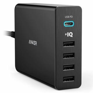 [学園祭特価]Anker PowerPort+ 5 USB-C Power Delivery対応 ブラック