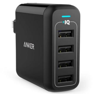 Anker PowerPort 4  40W 4ポート USB急速充電器 ブラック【3月下旬】
