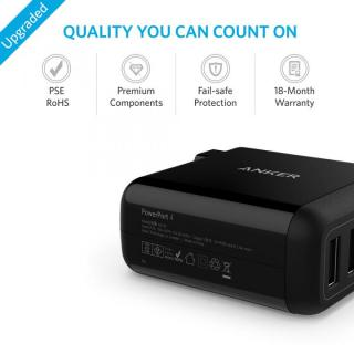 Anker PowerPort 4  40W 4ポート USB急速充電器 ブラック_6