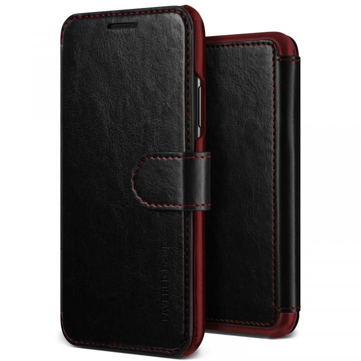 iPhone XR ケース VRS DESIGN(VERUS) Layered Dandy PUレザー手帳型ケース ブラック iPhone XR_0