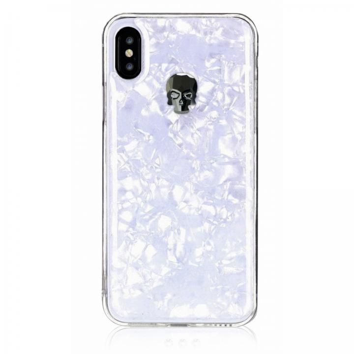 iPhone XS/X ケース Bling My Thing Treasure スワロフスキー ホワイト/HEMATITE SKULL iPhone XS/X_0