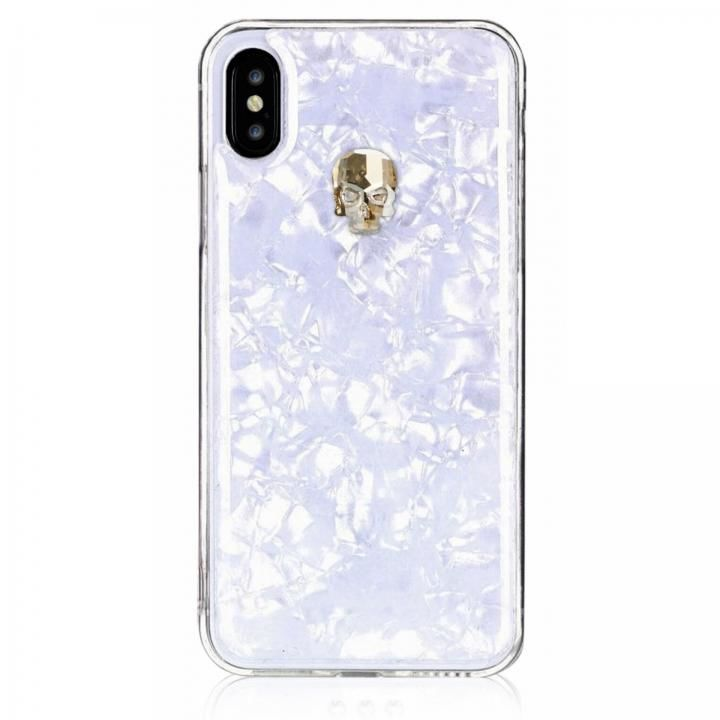 iPhone XS/X ケース Bling My Thing Treasure スワロフスキー ホワイト/GOLD SKULL iPhone XS/X_0