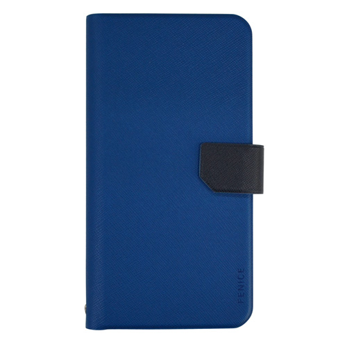 iPhone SE/5s/5 ケース 5.2インチ以内スマートフォン対応 レザー調 手帳型ケース ブルー iPhone Android_0