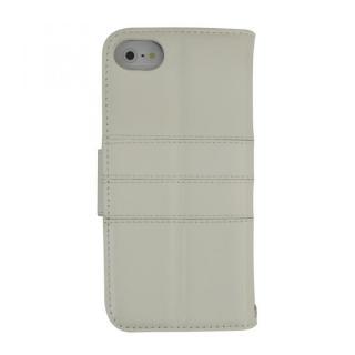 [強靭発売記念特価]kuboq ICカード対応 本革手帳型ケース ホワイト iPhone SE/5s/5ケース