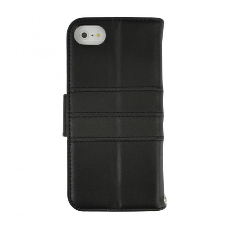 kuboq ICカード対応 本革手帳型ケース ブラック iPhone SE/5s/5ケース