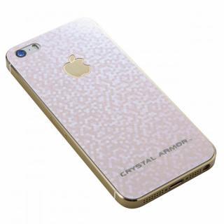 iPhone SE/5s/5 フィルム クリスタルアーマー 強化ガラス バックプロテクター  ブリリアントピンク iPhone SE/5s/5