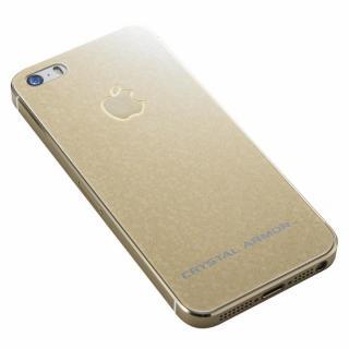 クリスタルアーマー 強化ガラス バックプロテクター  ブリリアントゴールド iPhone SE/5s/5