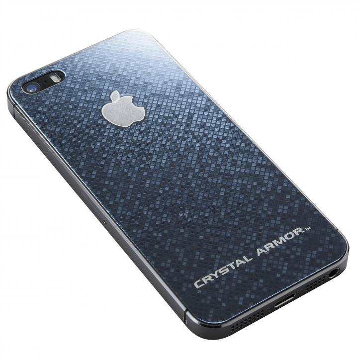 クリスタルアーマー 強化ガラス バックプロテクター  ブリリアントブラック iPhone SE/5s/5