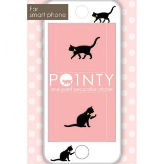 スマホのスキマに小さなおしゃれ POINTY ネコ 黒 スキンシール