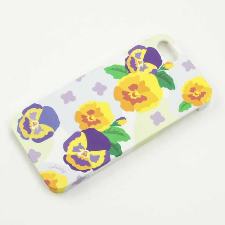 【50%OFF】jitty iPhone SE/5s/5ケース Flower pansy