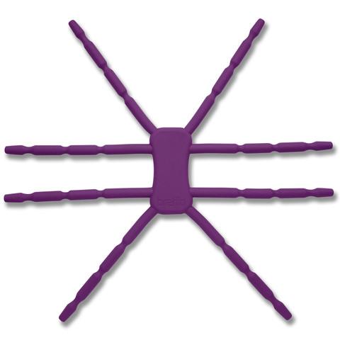 8本多関節 タブレット用マルチスタンド Breffo SpiderPodium パープル_0